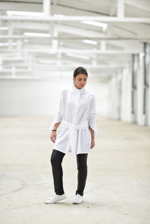 cd2c700450d Tunic Shirt In White - ALLSEAMS