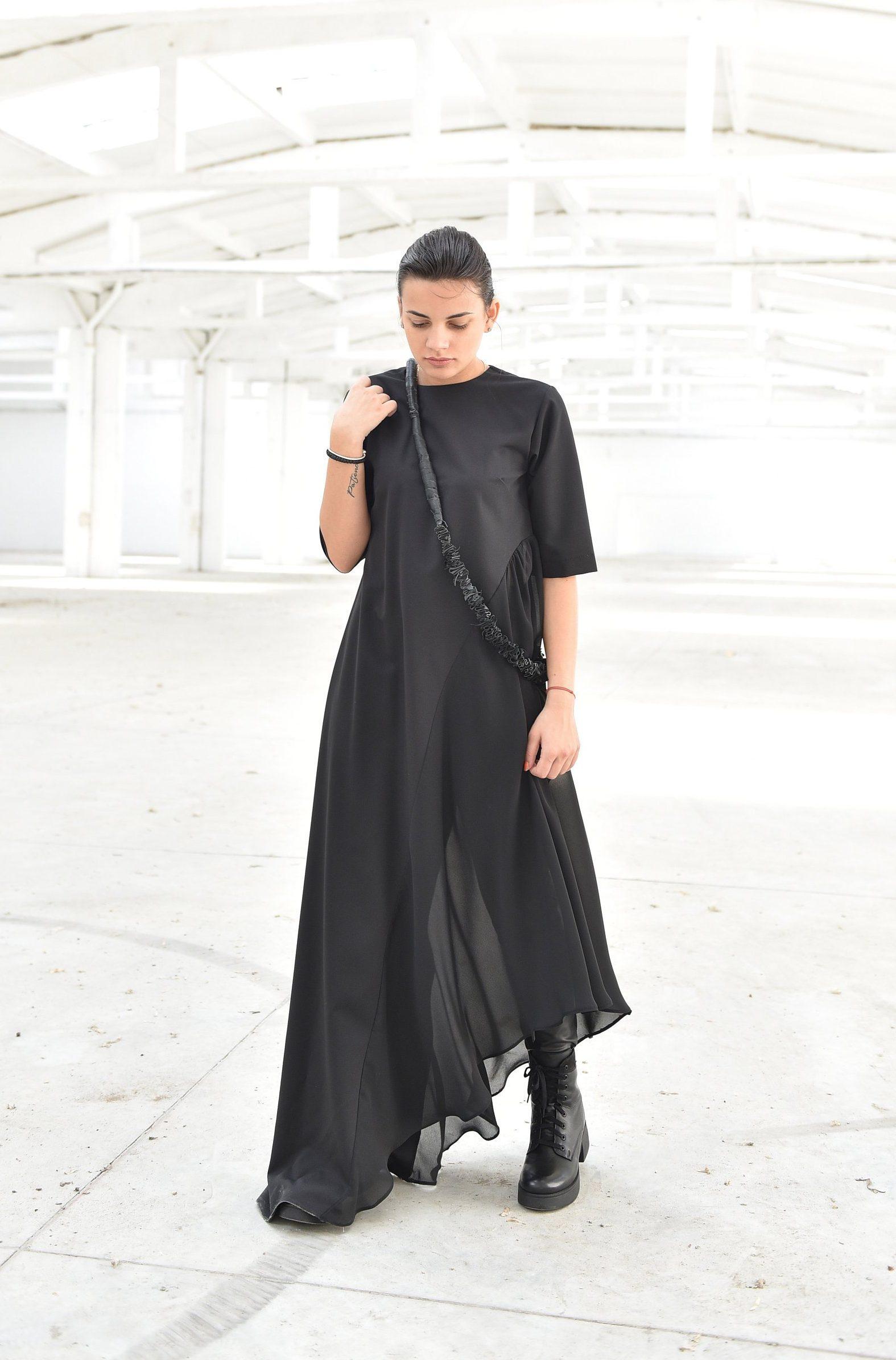 Short Sleeve Asymmetric Dress