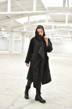 Coat For Women, Winter Coat, Cashmere Coat, Plus Size Clothing, Black Hooded Coat, Long Maxi Coat, Black Coat, Gothic Clothing, Winter