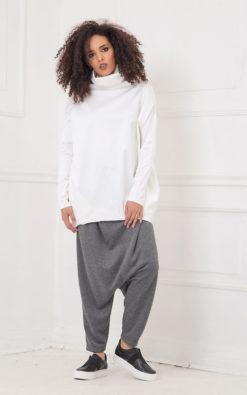 Harem Pants In Gray