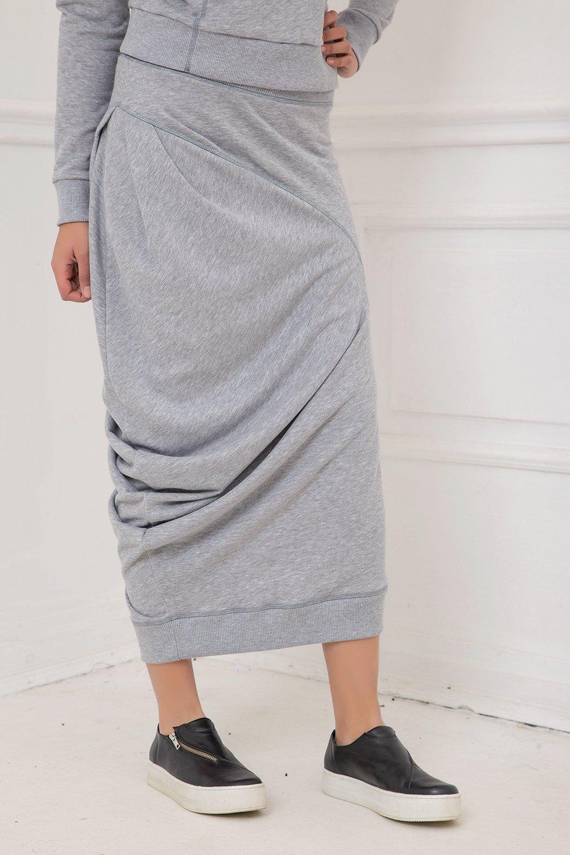 c5ebf992deb Assymetric Skirt In Gray - ALLSEAMS
