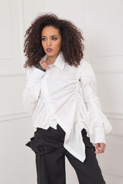 White Shirt, Plus Size Shirt, Collar Shirt, Plus Size Clothing, Shirt For Women, Office Shirt, Long Sleeve Shirt, Elegant Shirt, Oversized