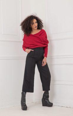 Black Pants, Wool Pants, Plus Size Clothing, High Waist Pants, Black Capri Pants, Wide Leg Pants, Straight Pants, Elegant Black Pants