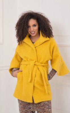 Winter Coat, Mustard Coat, Plus Size Clothing, Oversized Coat, Yellow Coat, Women Midi Coat, Plus Size Coat, Bohemian Clothing, Teddy Coat