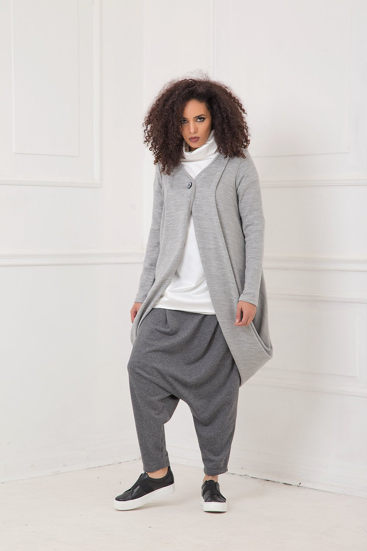 Cardigan For Women, Gray Cardigan, Plus Size Clothing, Knitted Cardigan, Long Sleeve Cardigan, Long Cardigan, Winter Cardigan, Button