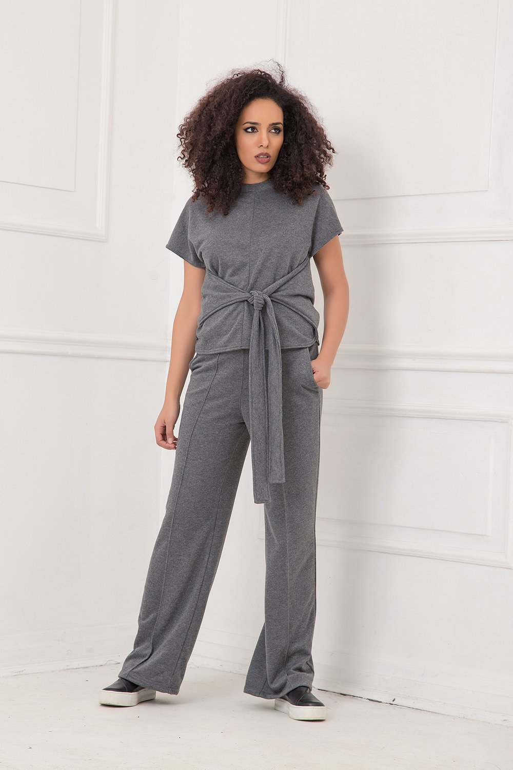 Wide Leg Pants, Gray Pants, Plus Size Pants, Women Pants, Straight Pants, Minimalist Pants, Oversized Pants, Urban Clothing, Street Pants