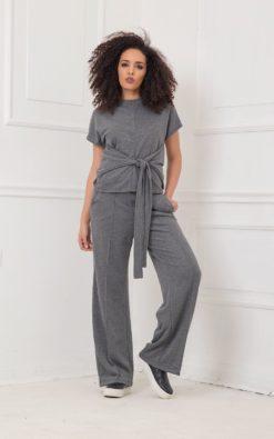 Wide Leg Pants, Gray Pants, Plus Size Pants, Women Pants, Straight Pants, Minimalist Pants, Oversized Pants, Urban Clothing, Street Pants