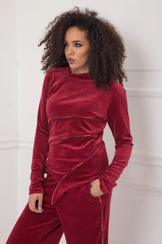 e920cd6581faaf Velvet Blouse, Velvet Top, Velvet Clothing, Plus Size Blouse, Elegant  Blouse,