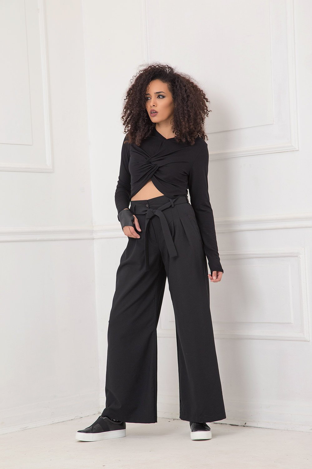 Pants For Women, Black Pants, Wool Pants, Plus Size Clothing, Wide Leg Pants, Wool Clothing, Japanese Clothing, Palazzo Pants, High Waist
