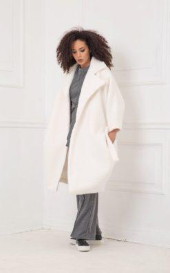 Winter Coat, White Coat, Plus Size Clothing, Long Coat, Women Coat, Bohemian Clothing, Long Sleeve Coat, Warm Coat, Japanese Clothing