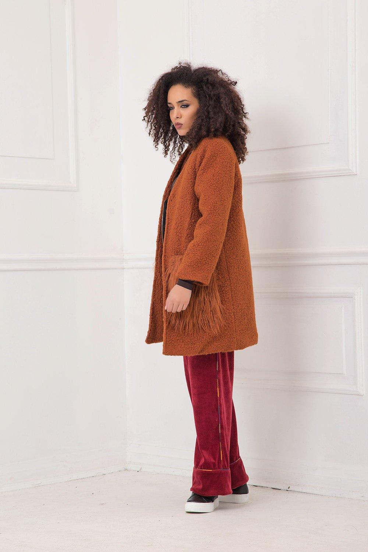 Women Winter Coat, Plus Size Coat, Rust Coat, Extravagant Coat, Warm Coat, Plus Size Clothing, Oversized Coat, Hipster Clothing, Long Sleeve