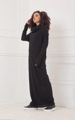 Maxi Dress, Black Dress, Plus Size Clothing, Cowl Neck Dress, Gothic Clothing, Plus Size Maxi Dress, Long Sleeve Dress, Shift Dress, Knitted
