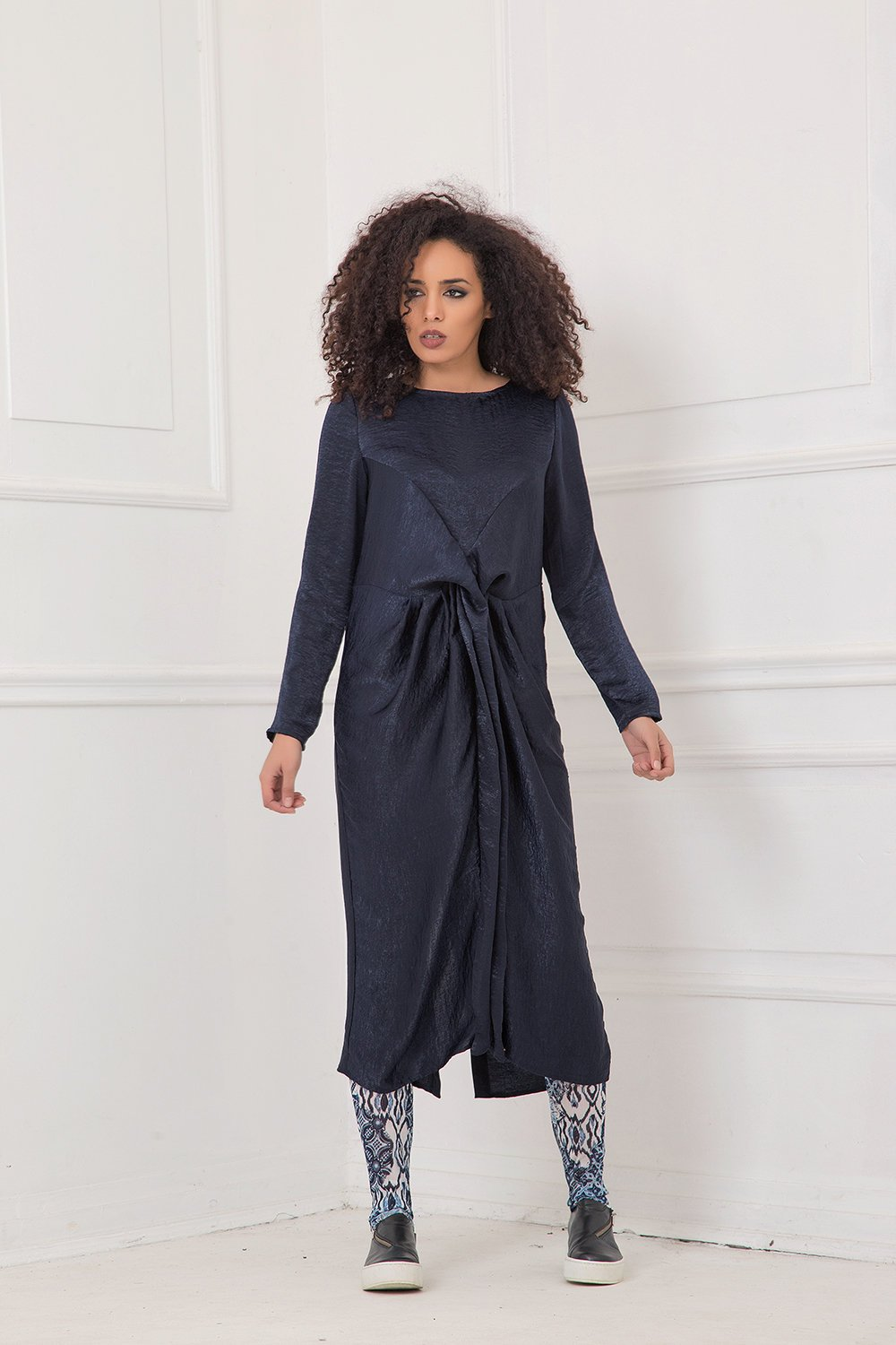 ea048dd82a Long Sleeve Navy Dress Plus Size - Dress Foto and Picture