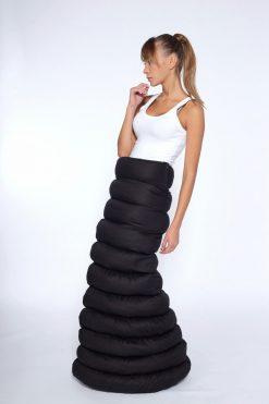 Long Black Skirt,Black Cotton Long Skirt,Extravagant Long Skirt, Women's Maxi Skirt, Asymmetrical Skirt,Boho Skirt, Japanese Clothing, Skirt