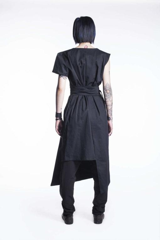 New Japanese Black Dress, Little Black Dress, Black Summer Tunic, Summer Dress, Geometric Dress, Boho Dress, Long Black Dress,Black Top