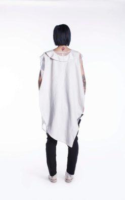 New White Summer Shirt, Lady's Shirt, Sexy White Shirt, Over Sized Shirt, Asymmetrical Shirt, Asymmetrical Maxi Top, Asymmetrical Tunic Top