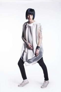 New White Summer Shirt, Lady's Shirt, Sexy White Shirt, Over Sized Shirt, Asymmetrical Shirt, Asymmetrical Maxi Top, Asymmetrical Tunic Top