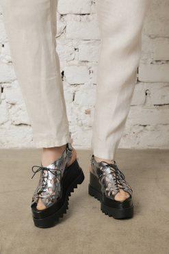 8c9baf11386 Metallic Platform Sandals - ALLSEAMS