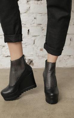 Platform Shoes, Avant Grade Shoes, Disco Shoes, Gothic Shoes, Women Black Boots, Leather Party Flats, Extravagant Flats, Steampunk Flats