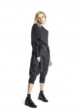 New Collection Dark Gray Jumpsuit, Deconstructed Jumpsuit, Loose Gray Jumpsuit, Drop Crotch Jumpsuit, Over Sized Gray Loose Jumpsuit