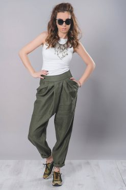 Low Crotch Pants, Linen Clothing, Harem Pants, Drop Crotch Pants, Linen Pants, Thai Pants, Women Pants, Baggy Pants, Loose Pants