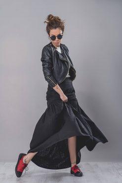 Linen Skirt, Maxi Skirt, Linen Clothing, Large Size Skirt, Women Black Skirt, Summer Skirt, High Waisted Skirt, Wide Skirt, Oversized Skirt