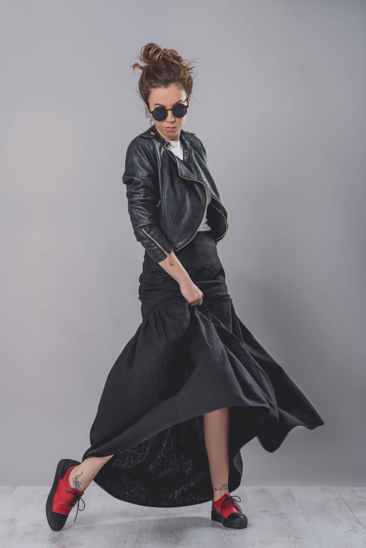 ed36b774616 High Waist Linen Skirt - ALLSEAMS