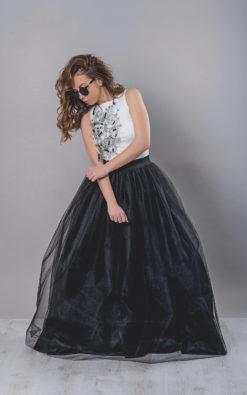 Black Maxi Skirt, Tulle Skirt Women, Extravagant Skirt, Prom Skirt, Party Skirt, Long Skirt, Oversized Skirt, Tulle Clothing, Tulle Skirt