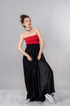Black Skirt, Maxi Skirt, Silk Skirt, High Waisted Skirt, Long Black Skirt, Women Skirt, Casual Skirt, Summer Maxi Skirt, Plus Size Skirt