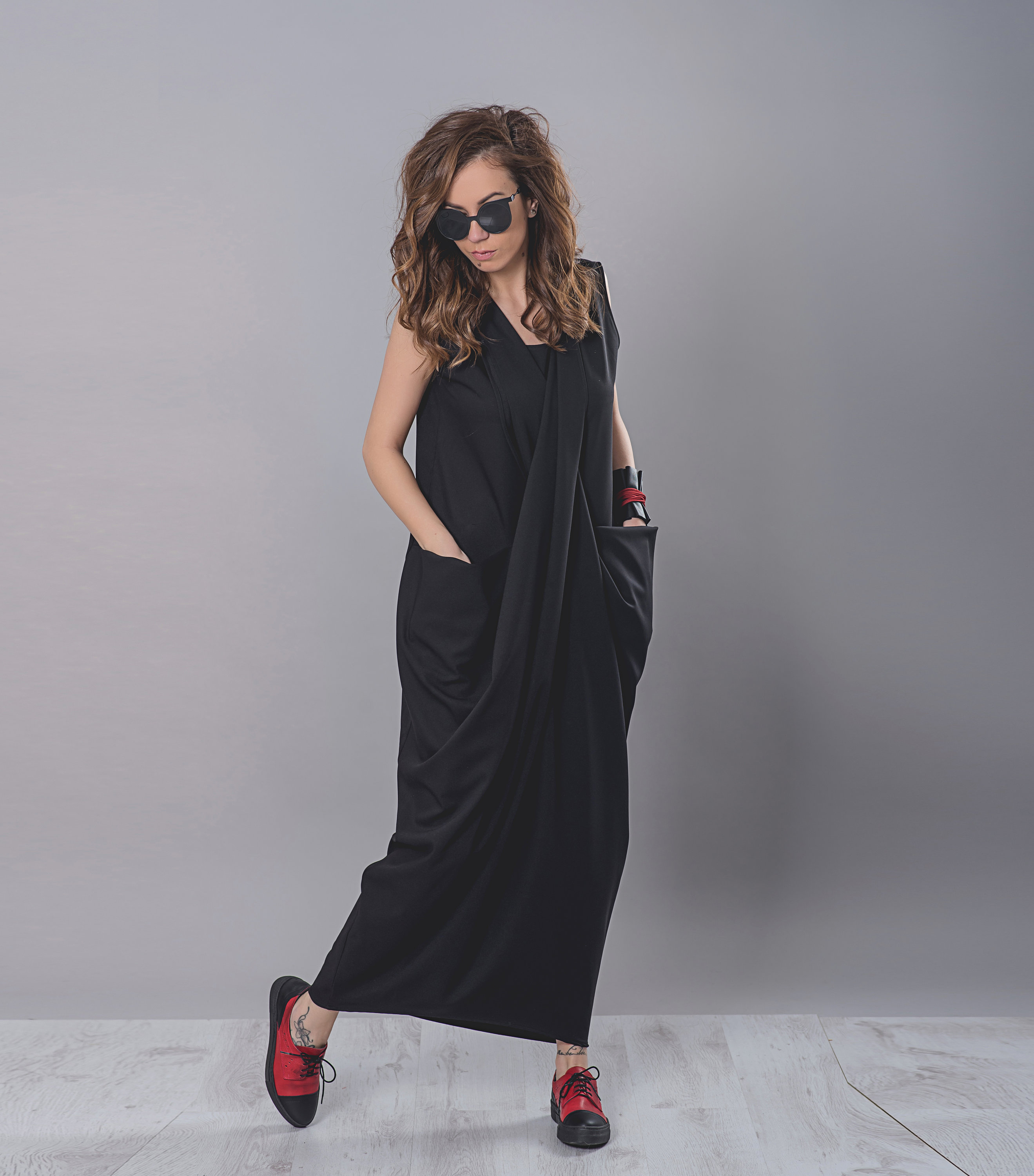 Maxi Dress With Front Pockets