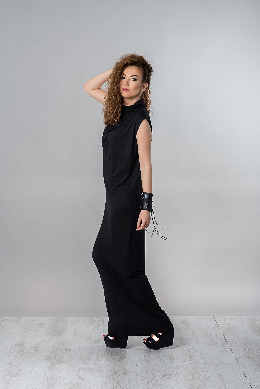 bf64083d386 Long Black Sleeveless Dress Plus Size - Data Dynamic AG