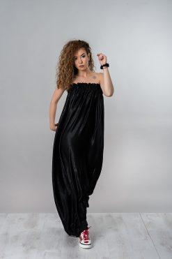 Silk Dress, Off Shoulder Dress, Black Maxi Dress, Loose Dress, Women Black Dress, Cocktail Dress, Long Dress, Casual Dress, Party Dress