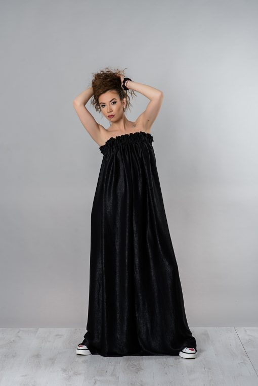 Silk Dress, Off Shoulder Dress, Black Maxi Dress, Loose Dress, Women Black Dress, Cocktail Dress, Long Dress, Casual Dress, Party Dress