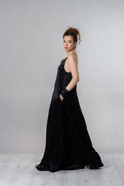 Summer Maxi Dress, Plus Size Dress, Long Black Dress, Women Dress, Silk Dress, Summer Clothing, Evening Dress, Oversized Dress, Long Dress