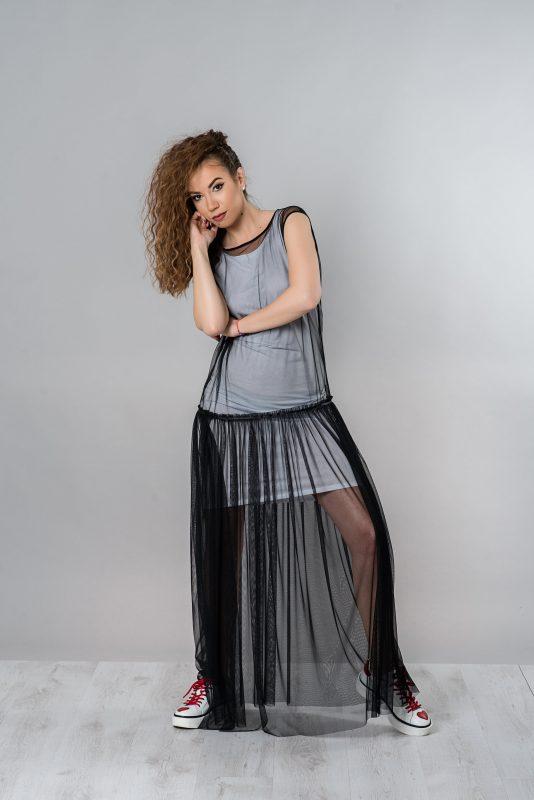 Sheer Dress, Black Dress, Long Summer Dress, Tulle Dress, Maxi Dress, Beach Cover Up, Maxi Tunic Dress, See Trough Dress, Plus Size Dress