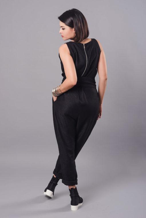 Women Jumpsuit, Linen Jumpsuit, Black Overall, Plus Size Clothing, Women Black Jumpsuit, Drop Crotch Pants, Linen Clothing, Sleeveless