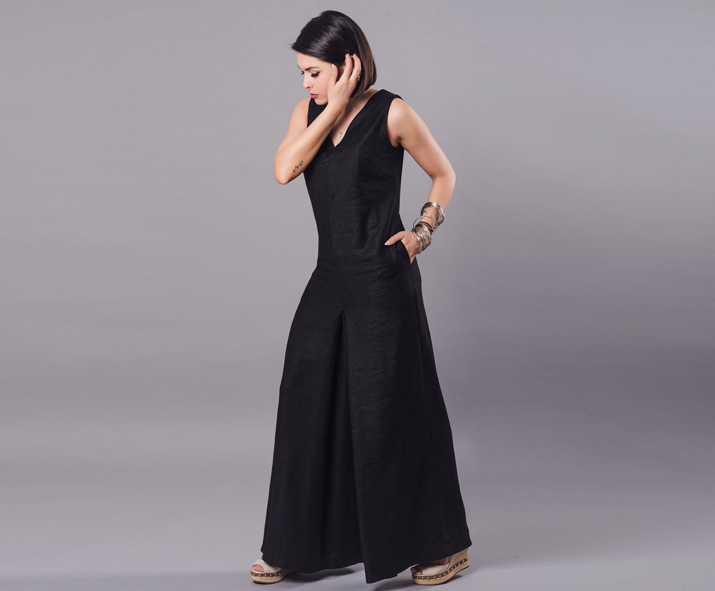 2a04753e310 Sleeveless Linen Jumpsuit - ALLSEAMS