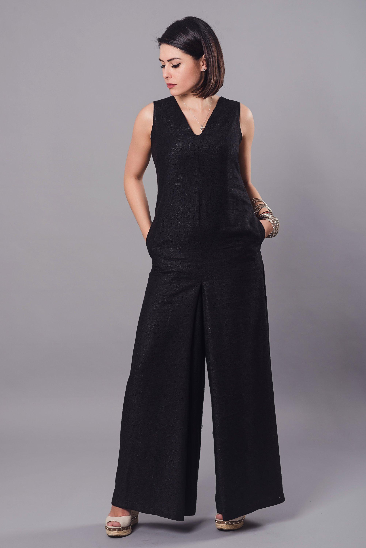 853cdf72d85 Sleeveless Linen Jumpsuit - ALLSEAMS