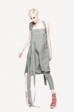 Gray Maxi Dress, Gray Tunic, Womens Jumpsuit, Tunic Dress, Suspender Dress, Drape Dress, Jumper Dress, Extravagant Jumpsuit, Gray Dress