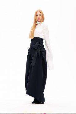 Long Black Skirt, Plus Size Skirt, Party Skirt, Japanese Style Skirt, High Waist Skirt, Asymmetrical Skirt, Evening Skirt, Black Skirt