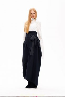 Long Black Skirt, Plus Size Skirt, Party Skirt, Japanese Style Skirt, High Waist Skirt, Asymmetrical Skirt, Evening Skirt, Black Skirt