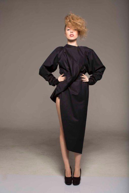 Black Gown, Black Long Sleeve Dress, Black Maxi Dress, Party Dress, Formal Dress, Renaissance Dress, Women's  Clothing, Fitted Dress