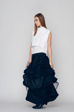 Black Long Skirt, Plus Size Maxi Skirt, Tutu Skirt, Circle Skirt, Ruffle Skirt, Avant Garde Skirt, Wedding Skirt, Punk Skirt, Elegant Skirt