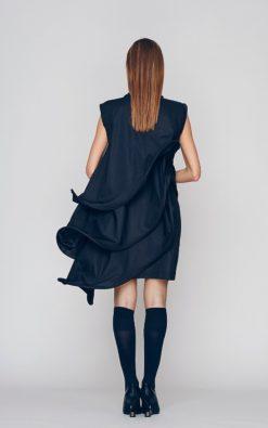 Loose Fit Dress, Black Formal Dress, Layered Dress, Little Black Dress, Short Sleeve Dress, Cocktail Dress, Evenning Dress, Bohemian Dress