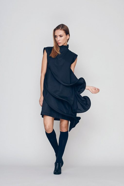 Loose Fit Dress, Black Formal Dress, Layered Dress, Little Black Dress, Short Sleeve Dress, Cocktail Dress, Evenning Dress, Bohemian Dress