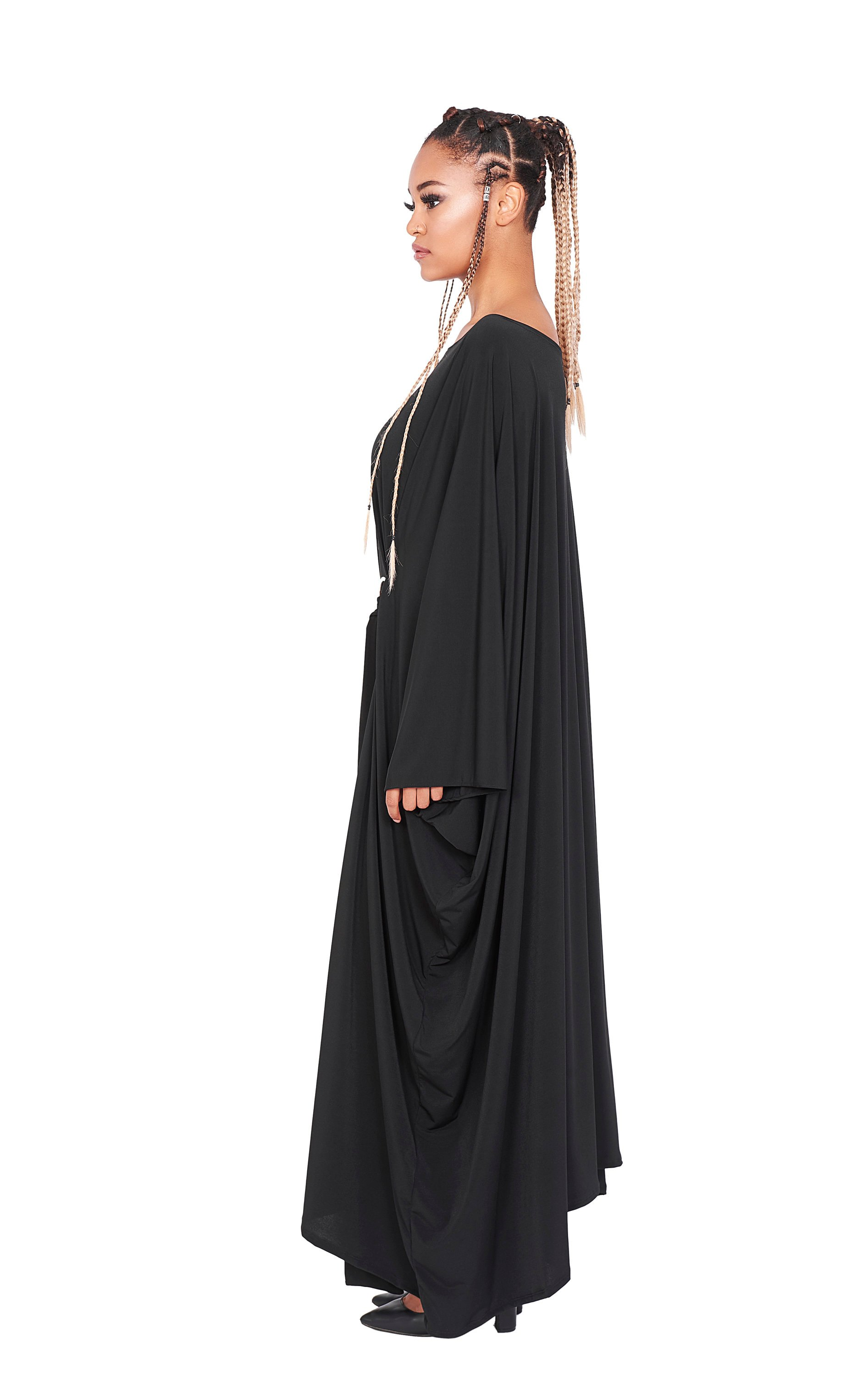 4a7580459b Plus Size Maxi Dress, Long Black Maxi Dress, Oversized Dress, Maternity  Clothing,
