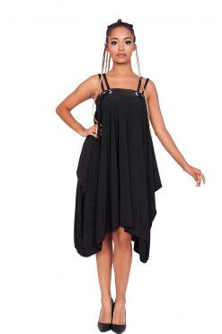 Black Summer Dress, Asymmetric Dress, Summer Party Dress, Women Dress, Maxi Dress, Extravagant Dress, Gothic Dress, Sleeveless Dress, Dress