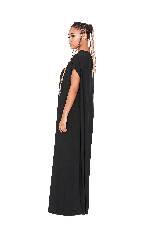 Dress With Sheer Sleeve