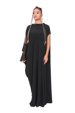 Black Plus Size Dress, Maxi Dress, Women Dress, Long Black Dress, Elegant Dress, Oversized Dress, Evening Dress, Goth Dress, Steampunk Dress