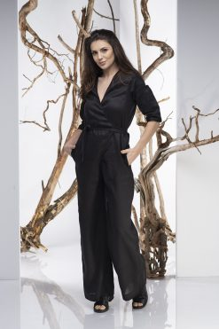Women Jumpsuit, Black Jumpsuit, Linen Jumpsuit, Plus Size Clothing, Elegant Jumpsuit, Women Romper, Black Overall, Linen Clothing, Oversize